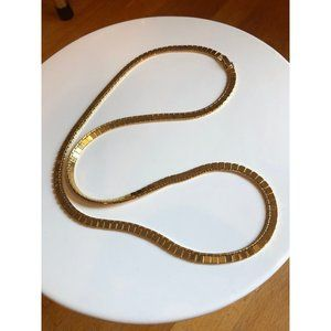 Vintage Monet Gold Tone Long Chain, 24 Inches long